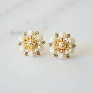 Tory Burch Enamel Flower Stud Earrings